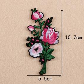 Parche Para Ropa Flor Rosa Grande