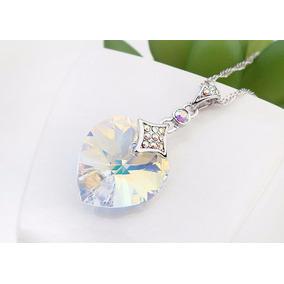 Collar Crystallized P Dama Piedra Color Tornasol Certificado