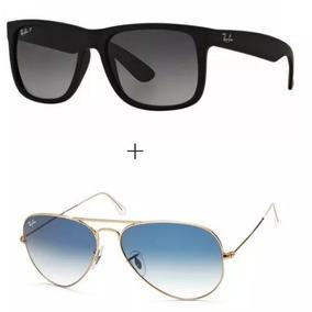 Ray Ban Justin Lente Preta Polarizada  cristal - Óculos no Mercado ... 889edad842