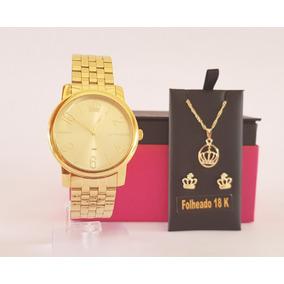 e14b5db61ef Relógio Lince Feminino Lrg4179l + Brinco E Pingente - Joias e ...