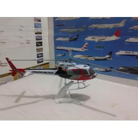 Maquete Em Resina Helicóptero Águia Militar..sp