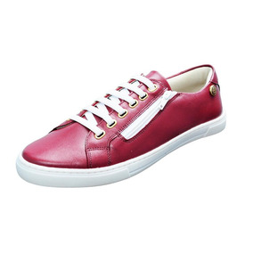 30b990c67ad Tênis Feminino Slim Quality Shoes Cadarço Confort Couro