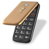 Celular Multilaser Flip Vita Dourado P9043 P/ Idoso Sos Nfe