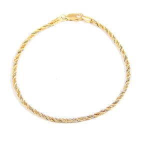 Pulseira De Ouro 18k Cordão Baiano - Viagold F43