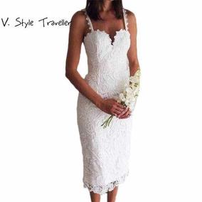 Vestido De Renda Branco Noiva Frete Gratis