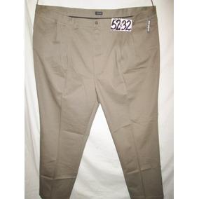 Pantalon Beige/moka De Vestir De Hombre Talla 52x32 Izod