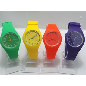 Relógios Feminino Pulseira De Silicone Geneva Super Moda