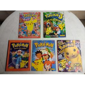 Pokémon - Lote De 5 Albuns De Figurinhas - Incompletos