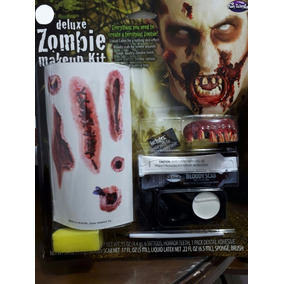 Kit Maquillaje Zombie Disfraz Halloween Fiesta