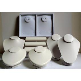 Kit Exhibidor De Joyeria Anillo Collar Pulcera Busto 7 Pizs