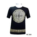 Camiseta Feminina Masculina Yoga Indiana Mandala Inca Preta