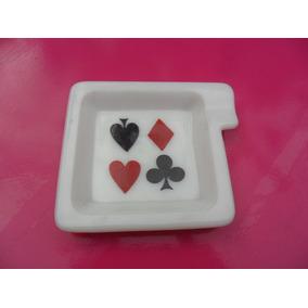 Cenicero De Opalina Antiguo. Poker. Microcentro-avellaneda.