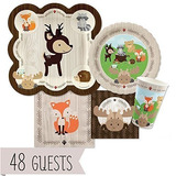 Big Dot Of Happiness Woodland Creatures Baby Shower O Birthd