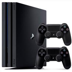 Playstation 4 Pro Sony Lacrado Ps4 1tb 4k + 2 Controles 12x