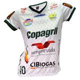 Camisa Baby Look Oficial Copagril Futsal 2018 Branca ebdd6b9c7f64e