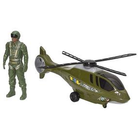 Brincando Com Helicóptero Resgate Com Boneco - Bs Toys