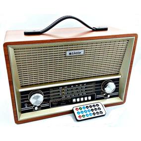 Rádio Retrô Decorativo Livstar Portátil Bluetooth Usb B2068