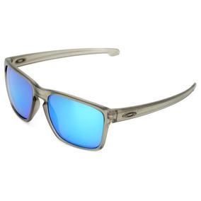 6a4cfd3ecd Óculos De Sol Oakley Sliver Xl Masculino - Cor Cinza+azul
