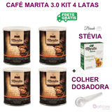 Café Marita 3.0 Original 4 Latas Brindes 1 Stevia 1 Colher