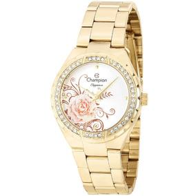 Relógio Feminino Champion Elegance Cn25476h Dourado
