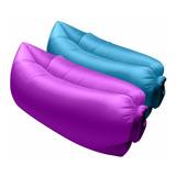 Puff Inflable Impermeable Lazy Bag Tumbona Reposera Nahuel