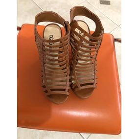 Sandalias Con Plataforma Dama Zapatos Capa De Ozono Café 5.5