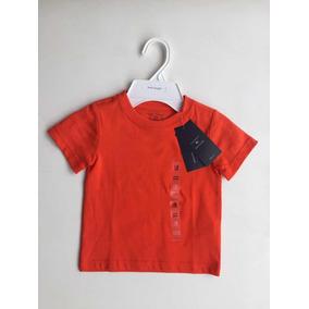 36e4a7f4a3 Camiseta Laranja Tommy Hilfiger