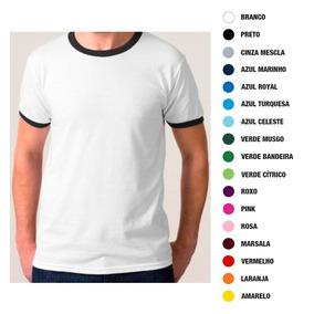 56a3a23077 Kit 10 Camisetas Lisa C  Gola E Punho Ribana P  Sublimação