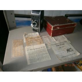 Filmadora 8mm Kern Paillard Bolex, Com Caixa E Manual