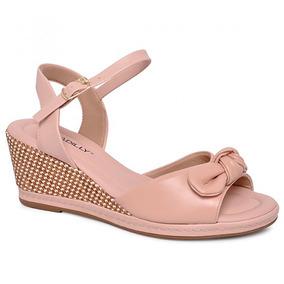 cb0de9e636e Sapato Peep Toe Anabela Marrom Com Laço Nº 36 - Sapatos no Mercado ...