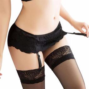 Liguero Sexy Con Medias Encaje Falda Sexy Lenceria