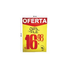Cartaz Para Marcacao Oferta Amarelo A2 250g 42x60cm