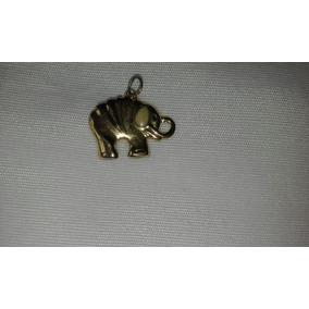 Pingente Elefante Folhado A Ouro