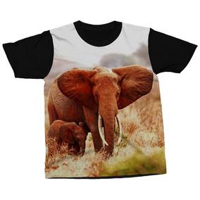 84d76c6278450 Camiseta Elefantes Vida Selvagem Natureza Blusa Camisa