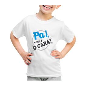 Camisa Personalizada Frases Poliéster Meu Pai É O Cara Promo 09516f84d08