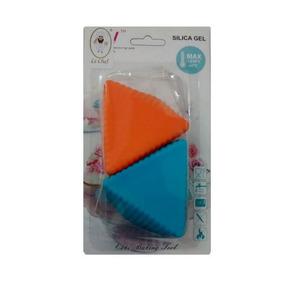 Forminha Silicone Formato Triangulo 6 Unidades Le Chef
