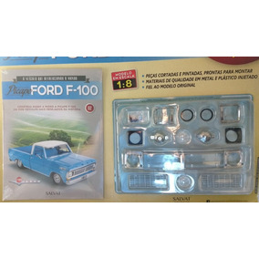 Fascículo Número 02 Ford Pick-up F-100 1957 Azul 1/8 Salvat