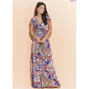 Vestido Longo Evangélico Feminino Florido Plus Size Recatado