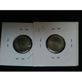 2 Moedas Portugal 10 Centavos 1920 E 1921 Lindas Níquel