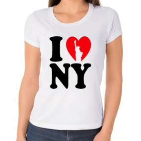 Baby Look I Love New York Camiseta Feminina 5e2153a687d