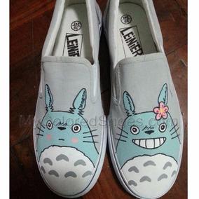 Vans Totoro Azul Pintados A Mano