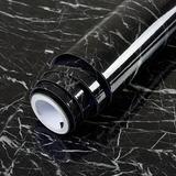 Vinilo Autoadhesivo Diseño Marmol Negro 45x200cm + Envio