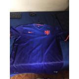Camisa Nike Holanda Copa 2014 Azul Tam. G Rara