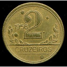 Moeda Brasil 2 Cruzeiros 1956 - Sob/fc - Frete Grátis- L.552