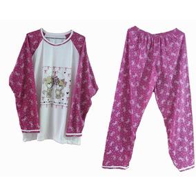 Pijama Feminino Inverno Frio Roupa Dormir Longo Blusa G Gg