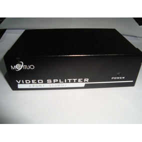 Distribuidor De Vídeo Splitter Vga / 2 Portas