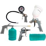 Kit Compressor Schulz 5 Pçs Calibrador Pistola Pintura