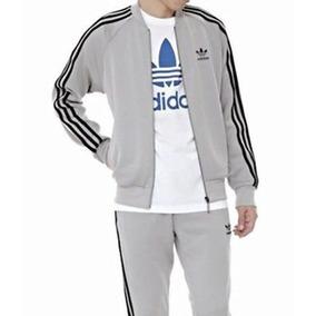 Conjuntos adidas Pantalon Mas Campera Sin Capucha Moda Retro