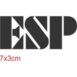 Adesivo Guitarra Esp 7x3cm