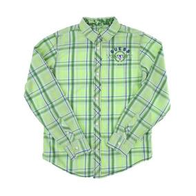 Remate Guess Camisa Casual Corte Regular Cuadros T12-14 C349